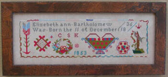 Elizabeth Ann Bartholomew - Cross Stitch Pattern