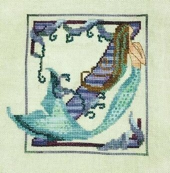 Letters From Mermaids - Z - Cross Stitch Pattern