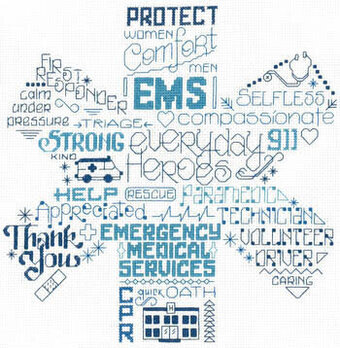Let's Appreciate EMS - Cross Stitch Pattern