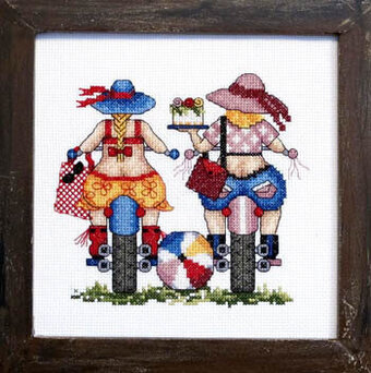 Biker Babes - Cross Stitch Pattern