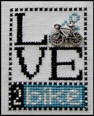 Love 2 Bike (w/charm) - Cross Stitch Pattern