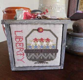 Basket of Red, White & Blue - Cross Stitch Pattern