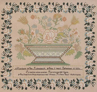 Margaret Ann Klinedienst 1830 - Cross Stitch Pattern