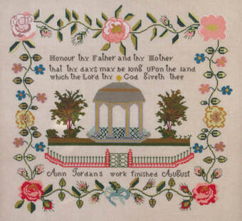Ann Jordan c. 1841 - Cross Stitch Pattern