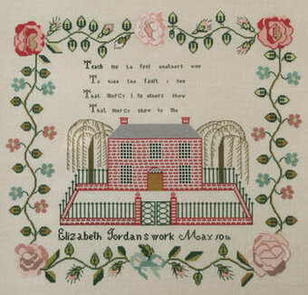 Elizabeth Jordan c 1841 - Cross Stitch Pattern