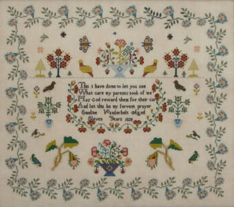 Emeline Vanderbelt 1828 - Cross Stitch Pattern