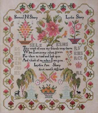 Lydia Sharp 1848 - Cross Stitch Pattern