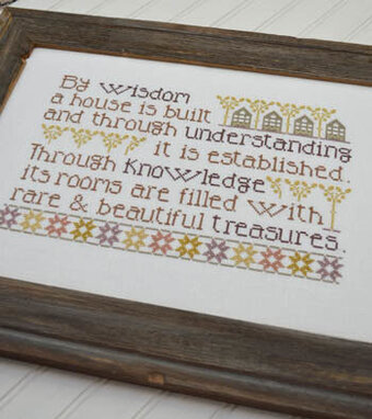Proverbial Home - Cross Stitch Pattern