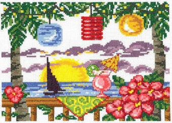 Tiki Lights - Cross Stitch Pattern