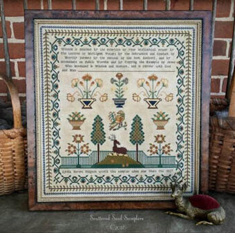 Lydia Barnes Pidgeon 1827 - Cross Stitch Pattern
