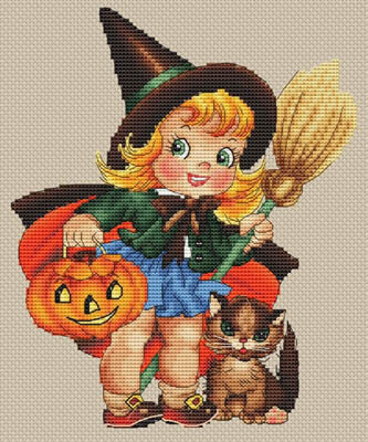 En Route Pour Halloween - Cross Stitch Pattern