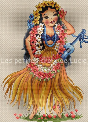 Hawaiian Girl - Cross Stitch Pattern