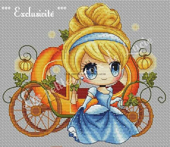 Cendrillon Au Bal - Cross Stitch Pattern