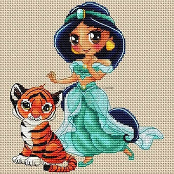 Jasmine Et Rajah - Cross Stitch Pattern