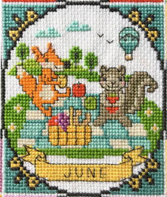Year of Animal Fun & Frolic - June - Cross Stitch Pattern