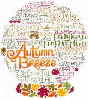 Let's Breeze into Autumn - Cross Stitch Pattern