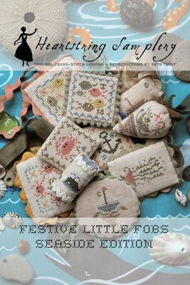 Festive Little Fobs 6 - SEASIDE EDITION - Cross Stitch