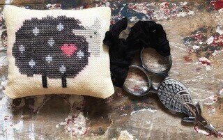Black Sheep Scissor Fob - Cross Stitch Pattern