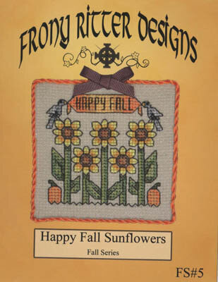 Happy Fall Sunflowers - Cross Stitch Pattern