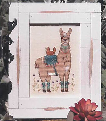 Hen and Her Llama - Cross Stitch Pattern
