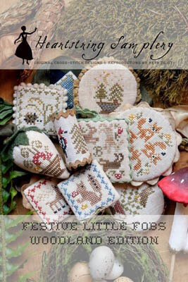 Festive Little Fobs 7 - Woodland Edition - Cross Stitch Patt