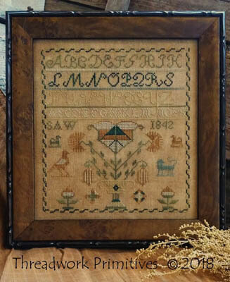 1842 Saw Sampler - Cross Stitch Pattern