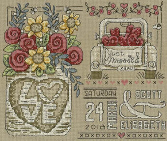Rustic Wedding - Cross Stitch Pattern