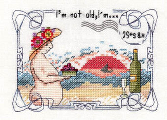 I'm Not Old, I'm 25 plus S&H - Cross Stitch Pattern