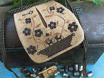 Stone Flowers Sewing Pocket - Cross Stitch Pattern