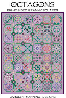 Octagons - Eight Sided Granny Squares - Cross Stitch Pattern