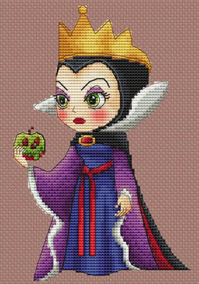La Reine Du Mal - Cross Stitch Pattern