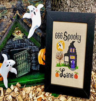 666 Spooky Lane - Cross Stitch Pattern