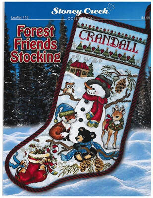 Forest Friends Stocking - Cross Stitch Pattern