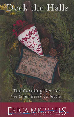 Deck the Hall - Linen Berry - Cross Stitch Pattern