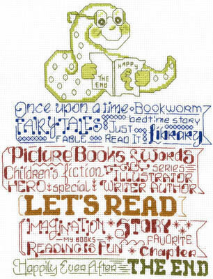 Let's Read to Kids - Cross Stitch Pattern
