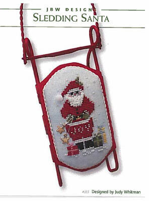 Sledding Santa - Cross Stitch Pattern