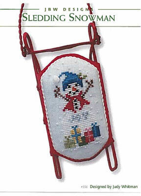 Sledding Snowman - Cross Stitch Pattern