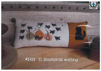 10 Blackbirds Waiting - Cross Stitch Pattern