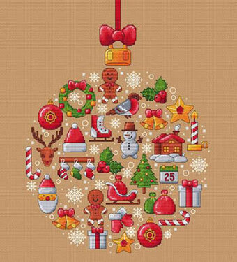 Boule de Noel - Cross Stitch Pattern