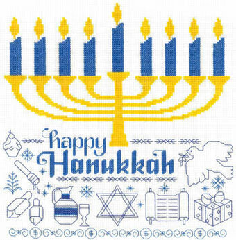 Let's Celebrate Hanukkah - Cross Stitch Pattern