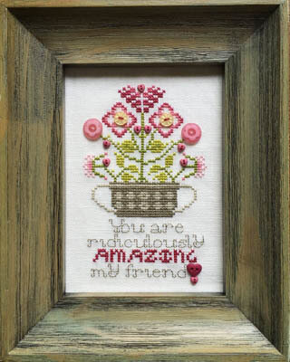 Amazing Friend (with buttons) - Cross Stitch Pattern
