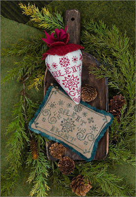 Silent Night Caroling Berries - Cross Stitch Pattern