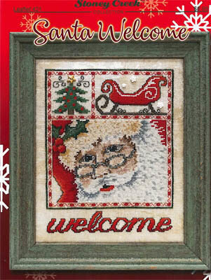 Santa Welcome - Cross Stitch Pattern