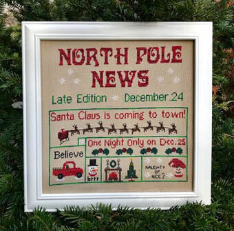 North Pole News - Cross Stitch Pattern