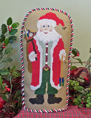 Holiday Stand-Up Santa - Cross Stitch Pattern