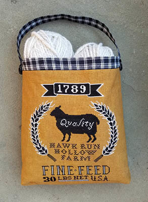 Sheep Feed Sack - Cross Stitch Pattern