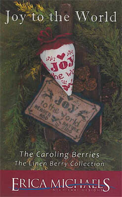 Joy to the World LINEN Berry - Cross Stitch Pattern