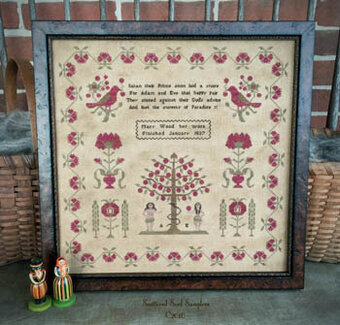 Mary Wood 1837 - Cross Stitch Pattern