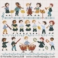 Orchestra, The - Cross Stitch Pattern