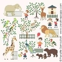 Baby At The Zoo - Cross Stitch Pattern